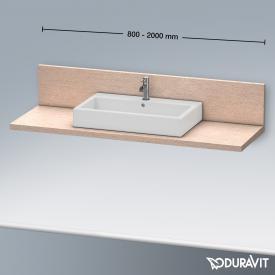 Duravit Delos Konsole mit Rückwand für 1 Aufsatz-/Einbauwaschtisch eiche kaschmir