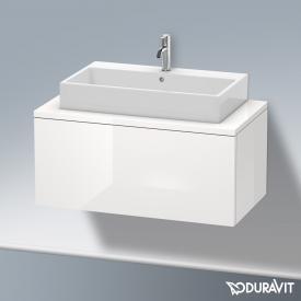 Duravit Delos Waschtischunterschrank für Konsole mit 1 Auszug Front weiß hochglanz / Korpus weiß hochglanz, ohne Einrichtungssystem
