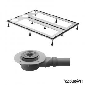 Duravit DuraSolid Duschwannen-Set L: 140 B: 90 cm