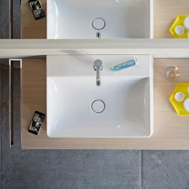 Duravit DuraSquare Handwaschbecken weiß, mit WonderGliss, mit 1 Hahnloch, geschliffen