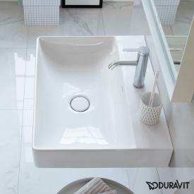 Duravit DuraSquare Handwaschbecken weiß, mit WonderGliss, mit 1 Hahnloch, ungeschliffen