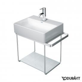 Duravit DuraSquare Metallkonsole wandhängend für Handwaschbecken 45 cm chrom