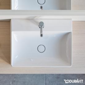 Duravit DuraSquare Waschtisch weiß, mit 1 Hahnloch, geschliffen