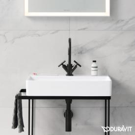 Duravit DuraSquare Waschtisch weiß, mit WonderGliss, mit 1 Hahnloch, ungeschliffen