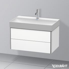 Duravit DuraSquare Waschtisch mit XSquare Waschtischunterschrank mit 2 Auszügen weiß, mit 1 Hahnloch
