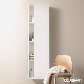 Duravit DuraStyle Hochschrank mit 1 Tür und 1 Seitenregal Front weiß matt / Korpus weiß matt