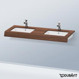 Duravit DuraStyle Konsole für 2 Aufsatz-/Einbauwaschtische kastanie dunkel