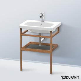 Duravit DuraStyle Möbel-Accessoire Handtuchhalter mit Ablage Korpus amerikanischer nussbaum / Ablage graphit matt