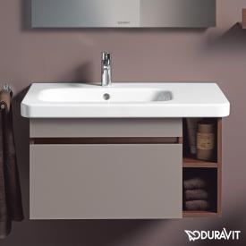 Duravit DuraStyle Möbelwaschtisch asymmetrisch weiß, mit 1 Hahnloch