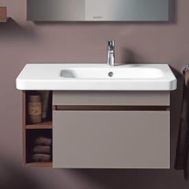 Duravit DuraStyle Möbelwaschtisch asymmetrisch weiß, mit WonderGliss, mit 1 Hahnloch