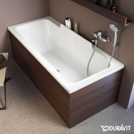 Duravit DuraStyle Rechteck-Badewanne, Einbauversion oder Wannenverkleidung, mit Rückenschräge links
