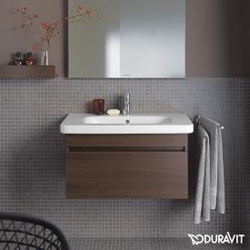 Duravit DuraStyle Waschtisch inkl. Waschtischunterschrank mit 1 Auszug kastanie dunkel, mit 1 Hahnloch