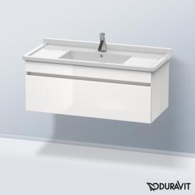 Duravit DuraStyle Waschtischunterschrank mit 1 Auszug Front weiß hochglanz / Korpus weiß hochglanz