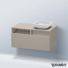 Duravit DuraStyle Waschtischunterschrank mit 1 Auszug und 1 offenen Fach Front terra / Korpus terra
