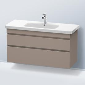 Duravit DuraStyle Waschtischunterschrank mit 2 Auszügen Front basalt matt / Korpus basalt matt