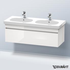 Duravit DuraStyle Waschtischunterschrank mit 1 Auszug für Doppelwaschtisch Front weiß hochglanz / Korpus weiß hochglanz