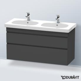 Duravit DuraStyle Waschtischunterschrank mit 2 Auszügen für Doppelwaschtisch Front graphit matt / Korpus graphit matt