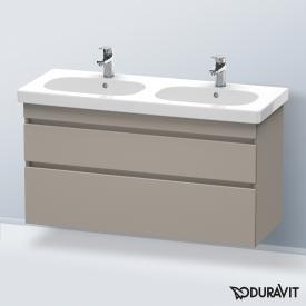 Duravit DuraStyle Waschtischunterschrank mit 2 Auszügen für Doppelwaschtisch Front terra / Korpus terra