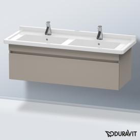 Duravit DuraStyle Waschtischunterschrank mit 1 Auszug für Doppelwaschtisch Front terra / Korpus terra