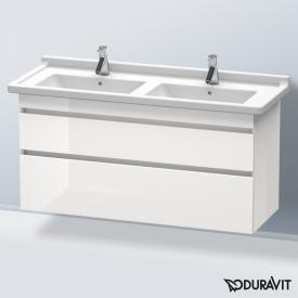 Duravit DuraStyle Waschtischunterschrank mit 2 Auszügen für Doppelwaschtisch Front weiß hochglanz / Korpus weiß hochglanz