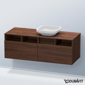 Duravit DuraStyle Waschtischunterschrank mit  2 Auszügen und 3 offenen Fächern Front kastanie dunkel / Korpus kastanie dunkel