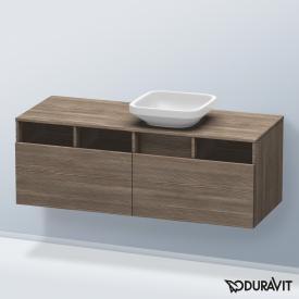 Duravit DuraStyle Waschtischunterschrank mit  2 Auszügen und 3 offenen Fächern Front pine terra / Korpus pine terra