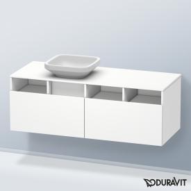 Duravit DuraStyle Waschtischunterschrank mit  2 Auszügen und 3 offenen Fächern Front weiß matt / Korpus weiß matt