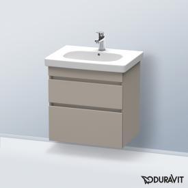 Duravit DuraStyle Waschtischunterschrank mit 2 Auszügen Front terra / Korpus terra