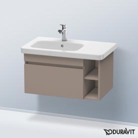 Duravit DuraStyle Waschtischunterschrank mit 1 Auszug und 1 Regalelement Front basalt matt / Korpus basalt matt
