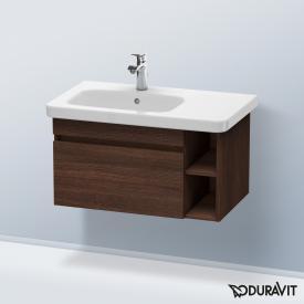 Duravit DuraStyle Waschtischunterschrank mit 1 Auszug und 1 Regalelement Front kastanie dunkel / Fropus kastanie dunkel