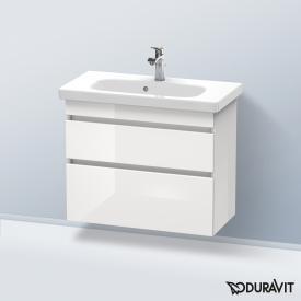 Duravit DuraStyle Waschtischunterschrank mit 2 Auszügen Front weiß hochglanz / Korpus weiß hochglanz