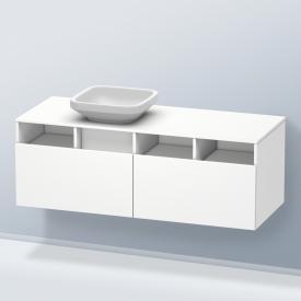 Duravit DuraStyle Waschtischunterschrank für Aufsatzwaschtisch mit 2 Auszügen und 3 offenen Fächern Front weiß matt / Korpus weiß matt
