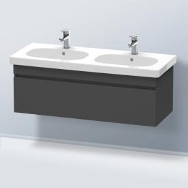 Duravit DuraStyle Waschtischunterschrank für Doppelwaschtisch mit 1 Auszug Front graphit matt / Korpus graphit matt