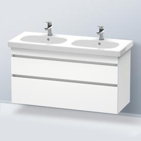 Duravit DuraStyle Waschtischunterschrank für Doppelwaschtisch mit 2 Auszügen Front weiß matt / Korpus weiß matt