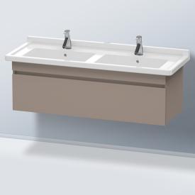 Duravit DuraStyle Waschtischunterschrank für Doppelwaschtisch mit 1 Auszug Front basalt matt / Korpus basalt matt