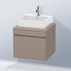 Duravit DuraStyle Waschtischunterschrank für Konsole mit 1 Auszug Front basalt matt / Korpus basalt matt