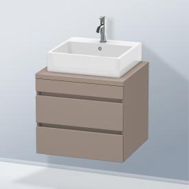 Duravit DuraStyle Waschtischunterschrank für Konsole mit 2 Auszügen Front basalt matt / Korpus basalt matt