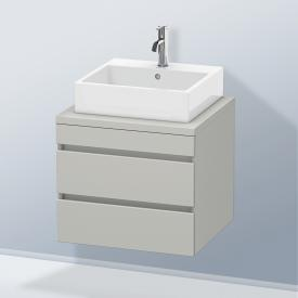 Duravit DuraStyle Waschtischunterschrank für Konsole mit 2 Auszügen Front betongrau matt / Korpus betongrau matt