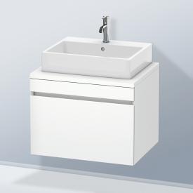 Duravit DuraStyle Waschtischunterschrank für Konsole mit 1 Auszug Front weiß matt / Korpus weiß matt