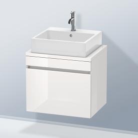 Duravit DuraStyle Waschtischunterschrank für Konsole Compact mit 1 Auszug Front weiß hochglanz / Korpus weiß hochglanz