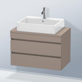 Duravit DuraStyle Waschtischunterschrank für Konsole Compact mit 2 Auszügen Front basalt matt / Korpus basalt matt