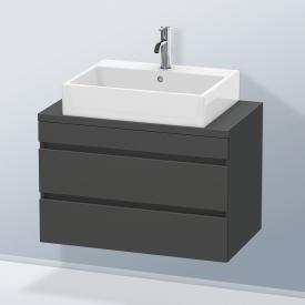 Duravit DuraStyle Waschtischunterschrank für Konsole Compact mit 2 Auszügen Front graphit matt / Korpus graphit matt