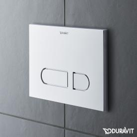 Duravit DuraSystem Betätigungsplatte A1 für WC, Kunststoff chrom