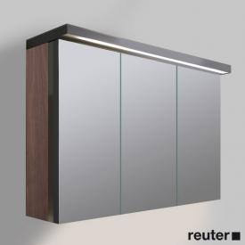 Duravit Fogo Spiegelschrank mit 3 Türen amerikanischer nussbaum