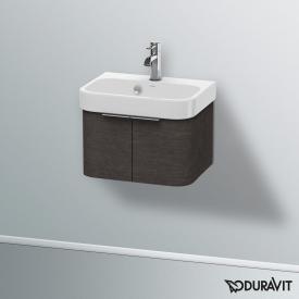 Duravit Happy D.2 Handwaschbeckenunterschrank mit 2 Türen Front eiche dunkel gebürstet / Korpus eiche dunkel gebürstet