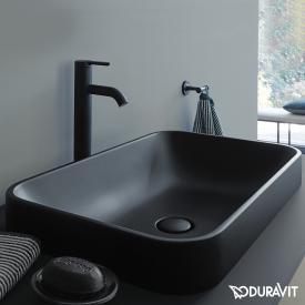 Duravit Happy D.2 Plus Aufsatzbecken anthrazit matt, mit WonderGliss