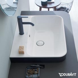 Duravit Happy D.2 Plus Aufsatzbecken anthrazit matt/weiß, mit WonderGliss, mit 1 Hahnloch