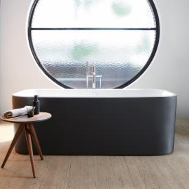 Duravit Happy D.2 Plus freistehende Oval Badewanne mit Verkleidung graphit matt