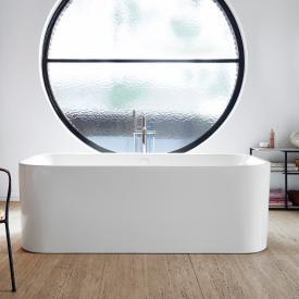 Duravit Happy D.2 Plus Freistehende Oval Badewanne mit Verkleidung weiß