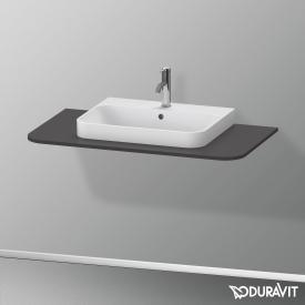 Duravit Happy D.2 Plus Konsole für 1 Aufsatz-/Einbauwaschtisch graphit supermatt